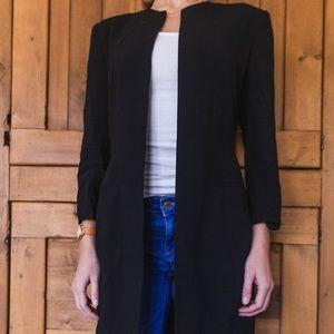 Jackets & Blazers - NWOT Classic, sleep, collarless knee-length coat